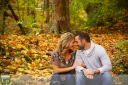 Engagement session Fall Park leaves